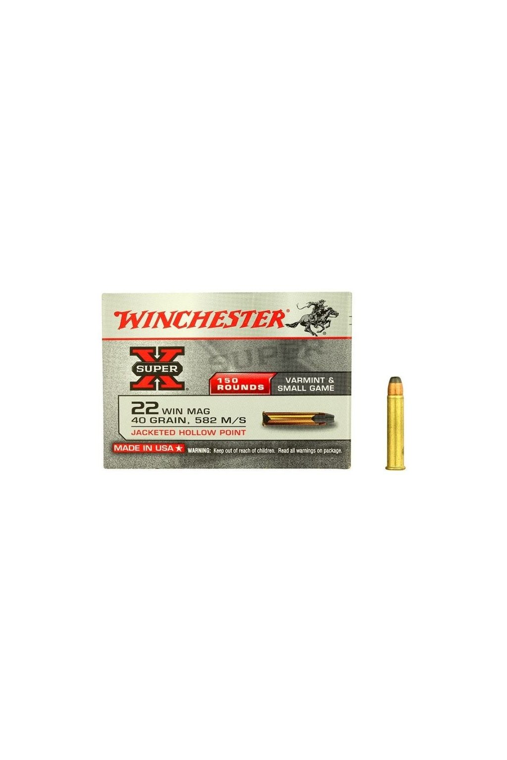 winchester super x .22 wmr jhp 40 grain