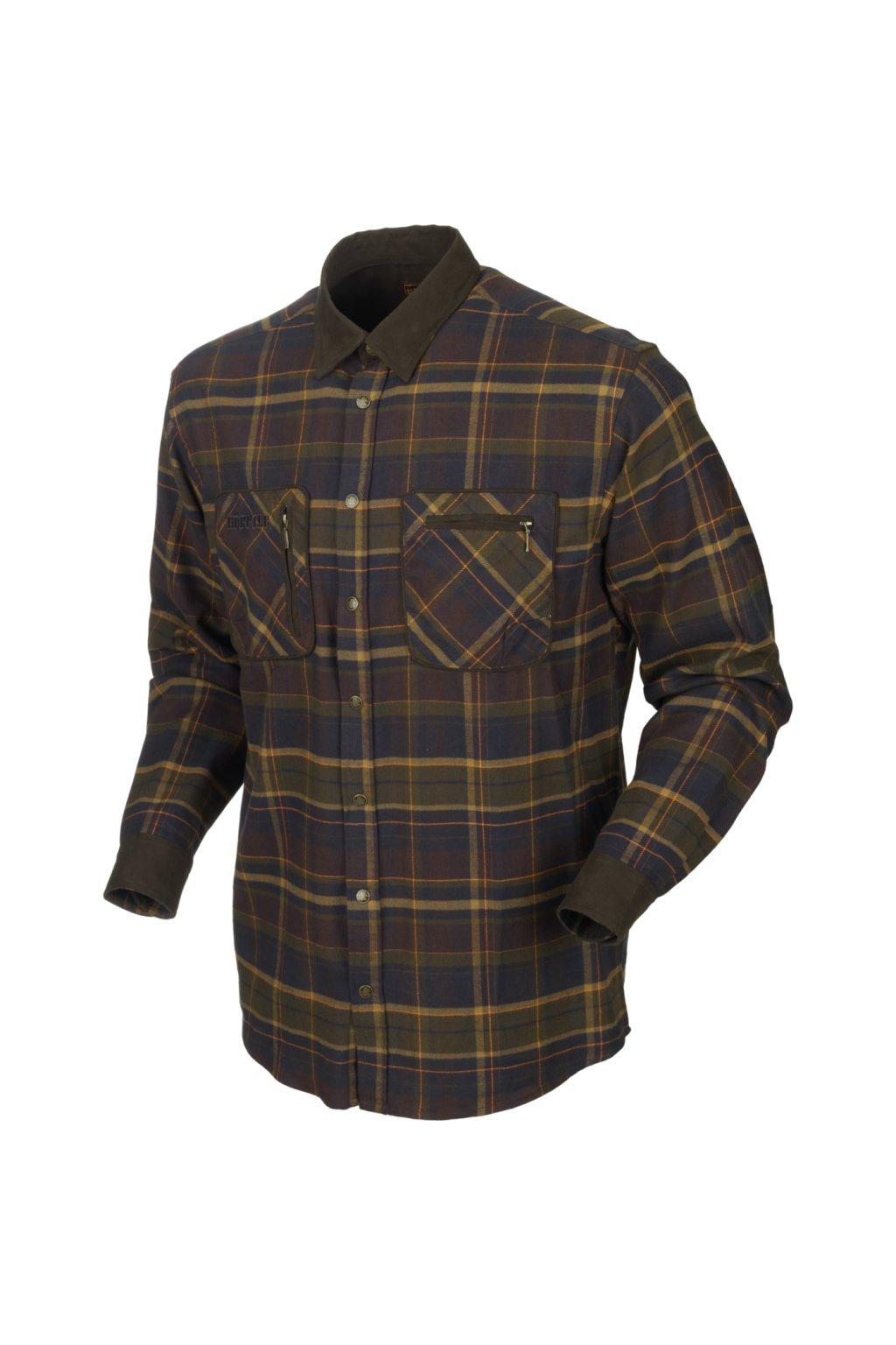 HÄRKILA  - Pajala košile pánská (Mellow Brown check)