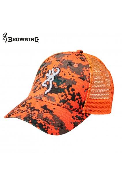 Browning kšiltovka - reflexní oranžová digi blaze
