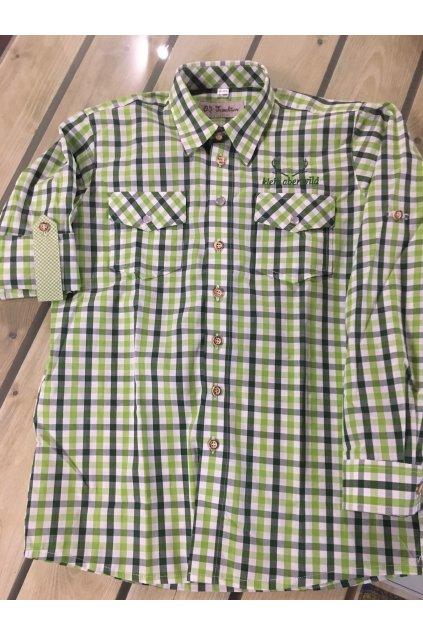 Košile dětská zelená velikost 122/128