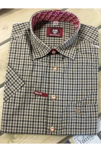 Košile pánská kr.rukáv Slim Fit
