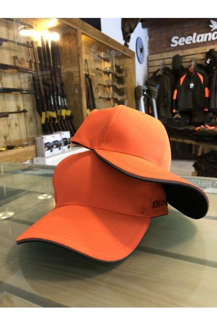 Kšiltovka - oranžová s reflexními prvky (one size)