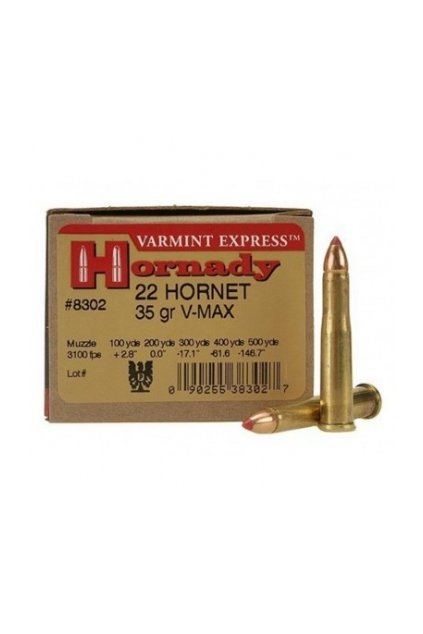 naboj kulovy hornady varmint express 22 hornet 35gr v max