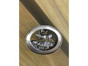 Odznak - jelen stříbrný