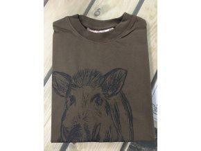 HUBERTUS - tričko dětské divočák světlá oliv