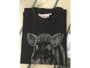 HUBERTUS - tričko dětské divočák tmavá oliv