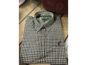 Dámská košile - flanel bílo-zelená (55)