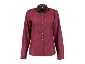 Košile dámská - červeno hnědá