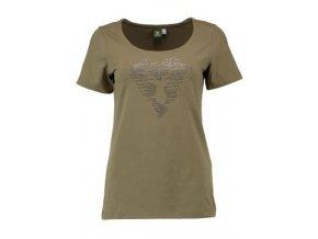 Orbis - tričko dámské oliv jelen