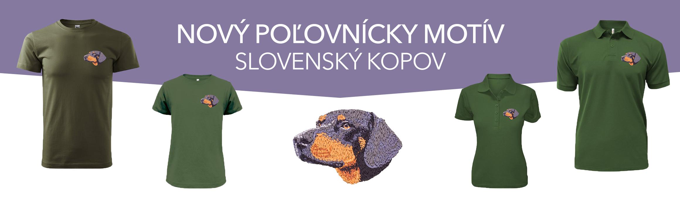 Produkty s výšivkou Slovenský Kopov