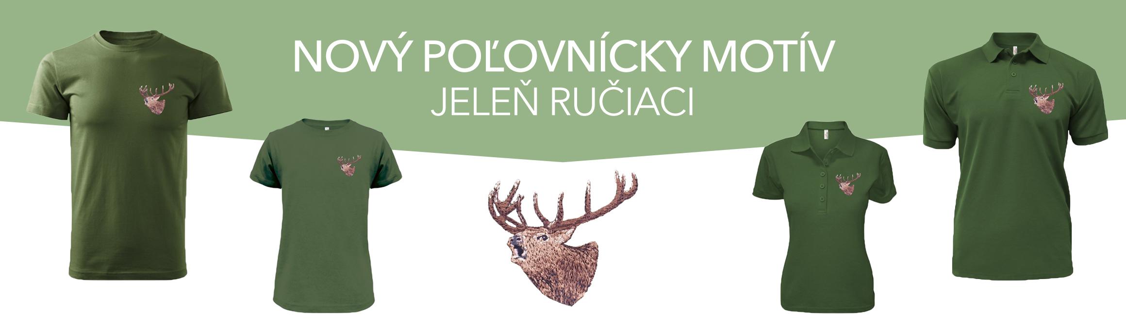 V predaju nový poľovnícky motív - JELEŇ RUČIACI, www.forestshop.sk