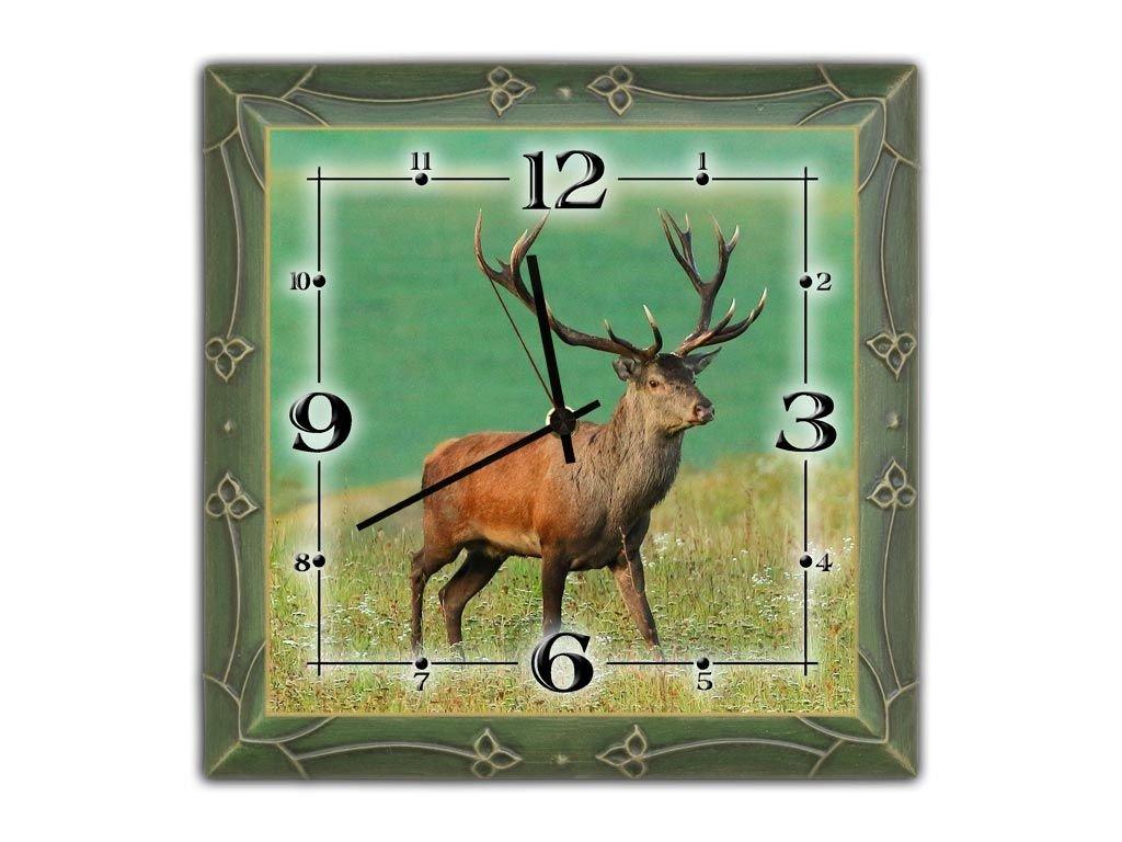 Nástenné drevené hodiny s motívom JELEŇ - Forestshop.sk 7deb8cd9cbd