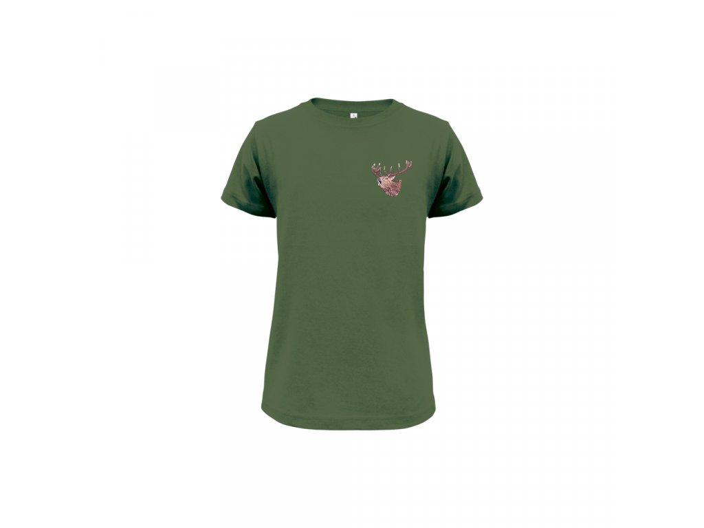 53b1f092e2 01 Detské tričko - Jeleň ručiaci - Forestshop.sk