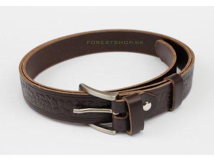 Poľovnícky kožený Opasok 3cm model Zalude OK
