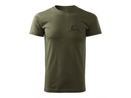 Poľovnícke tričko FOREST olive