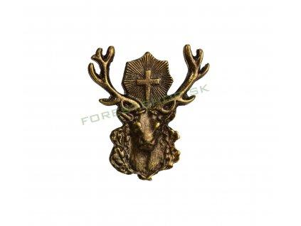 polovnicky odznak na klobúk sv hubert