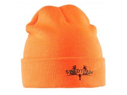 Poľovnícka Pletená čiapka SWEDTEAM - oranžová