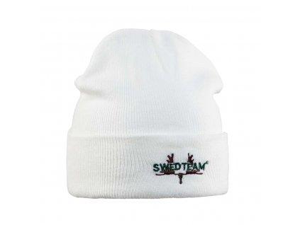 Poľovnícka Pletená čiapka SWEDTEAM - biela