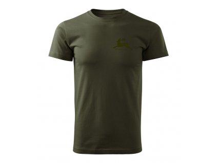 Poľovnícke tričko FOREST military