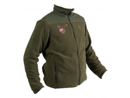 Polovnícka flisová bunda POLAR FOREST 1001 Jelen ruciaci