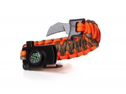 Paracord náramok prežitia s nožom Veil
