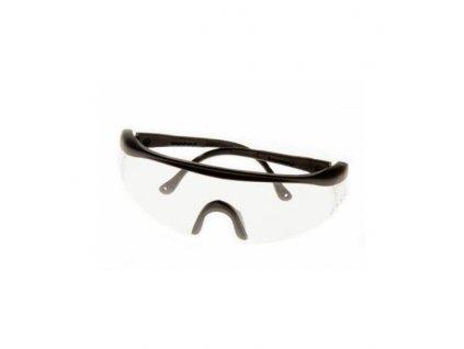 Strelecké okuliare číre sklá