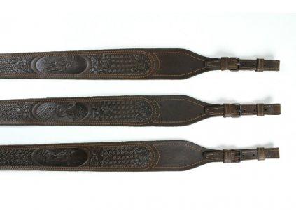 Kožený remeň na zbraň lisovaný vzor