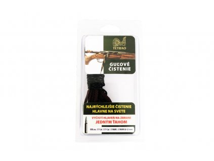 poľovnícka šnúra na čistenie guľovnice TETRAO cal. 17, cal. 177, 17HMR, 17WMR, 4,5mm