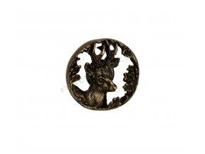 Odznak Srnec hlava kruhIMG 9601