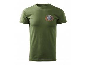 Poľovnícke tričko s výšivkou farbiar