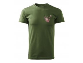 Polovnícke Tričko jeleň ruciaci