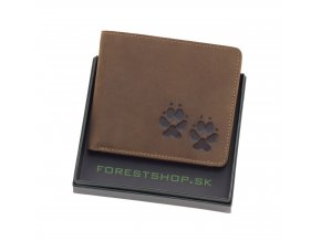 Poľovnicka kožená Peňaženka psie labky
