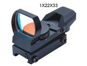 1x22x33 mm kolimátor RED (13 14mm) 001