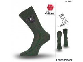 lasting merino ponozky wlm zelene