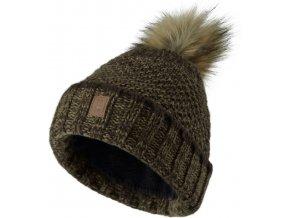 polovnicka ciapka.deerhunter lady knitted hat art green