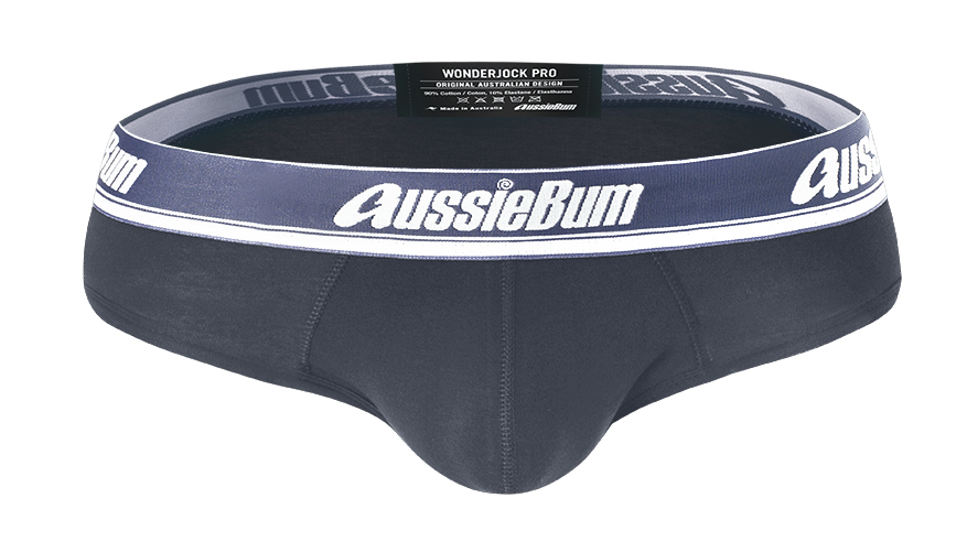 Slipy AussieBum Wonder Jock Pro s Push-up kapsou WJ Charcoal1