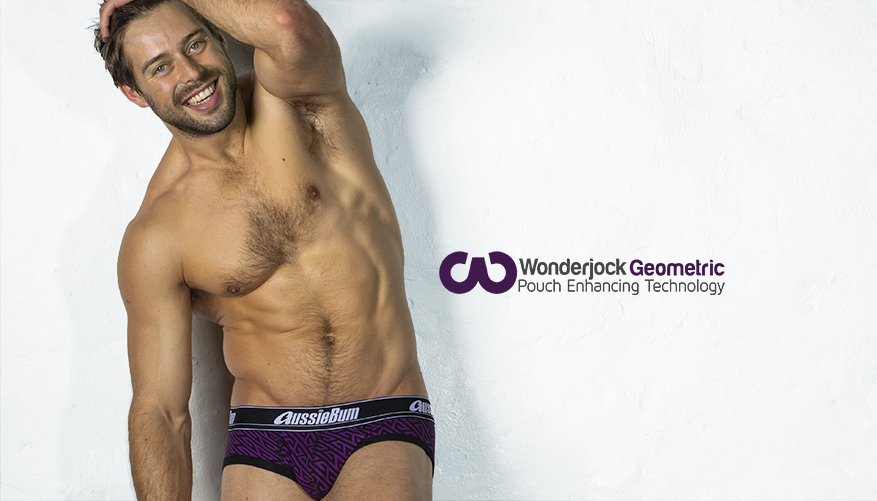 Slipy AussieBum Wonder Jock Pro s Push-up kapsou WJ Geo Purple5