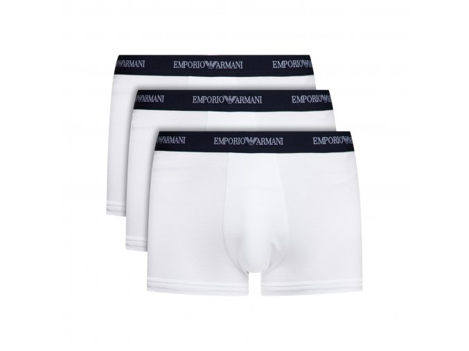 1emporio armani boxerky stretch cotton 3 pack bila