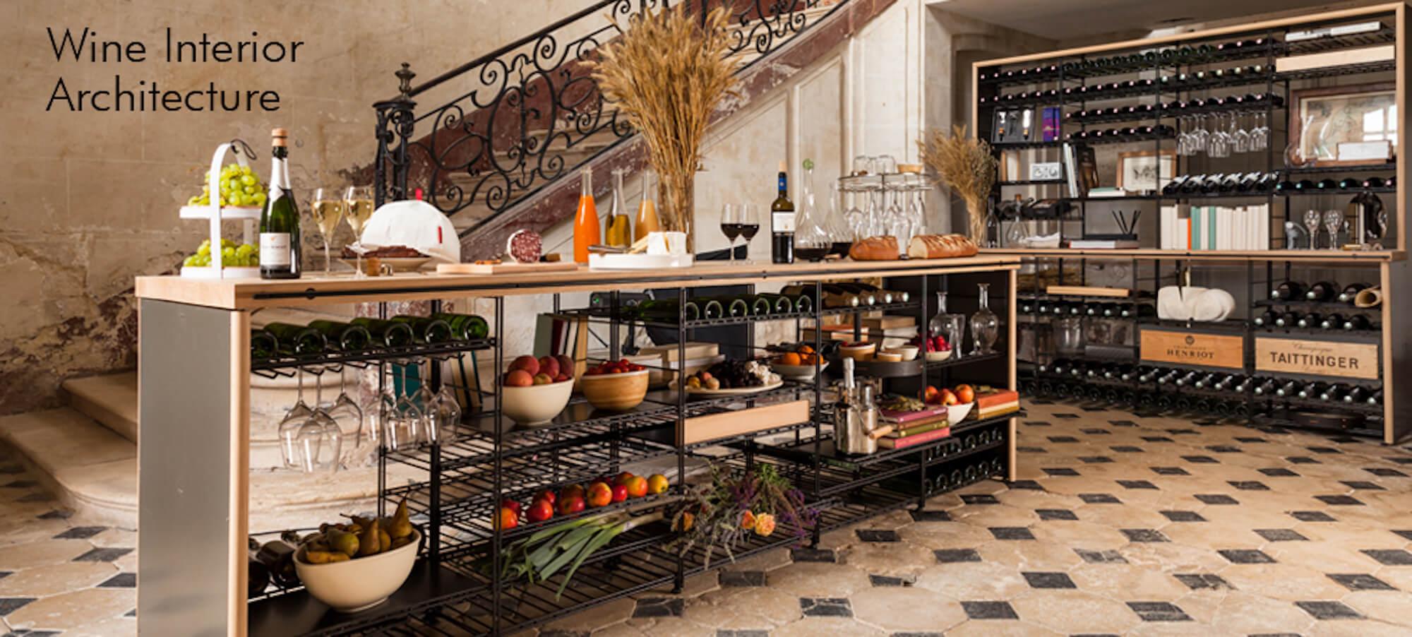 Regálové sestavy pro vinný sklep, Atelier du Vin