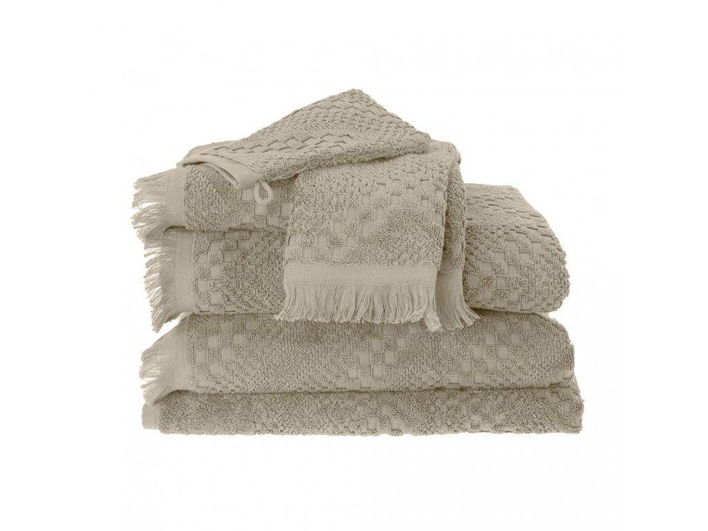 BOHEME Beige béžový ručník, Garnier Thiebaut