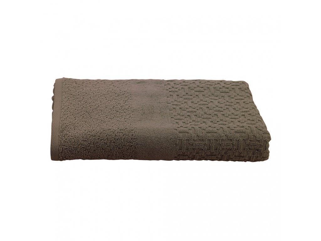 OSLO taupe hnědý ručník, Garnier Thiebaut