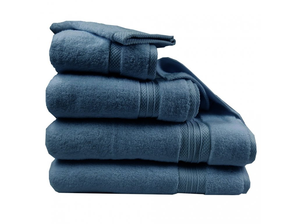 ELEA Bleu Ardoise modrý ručník, Garnier Thiebaut