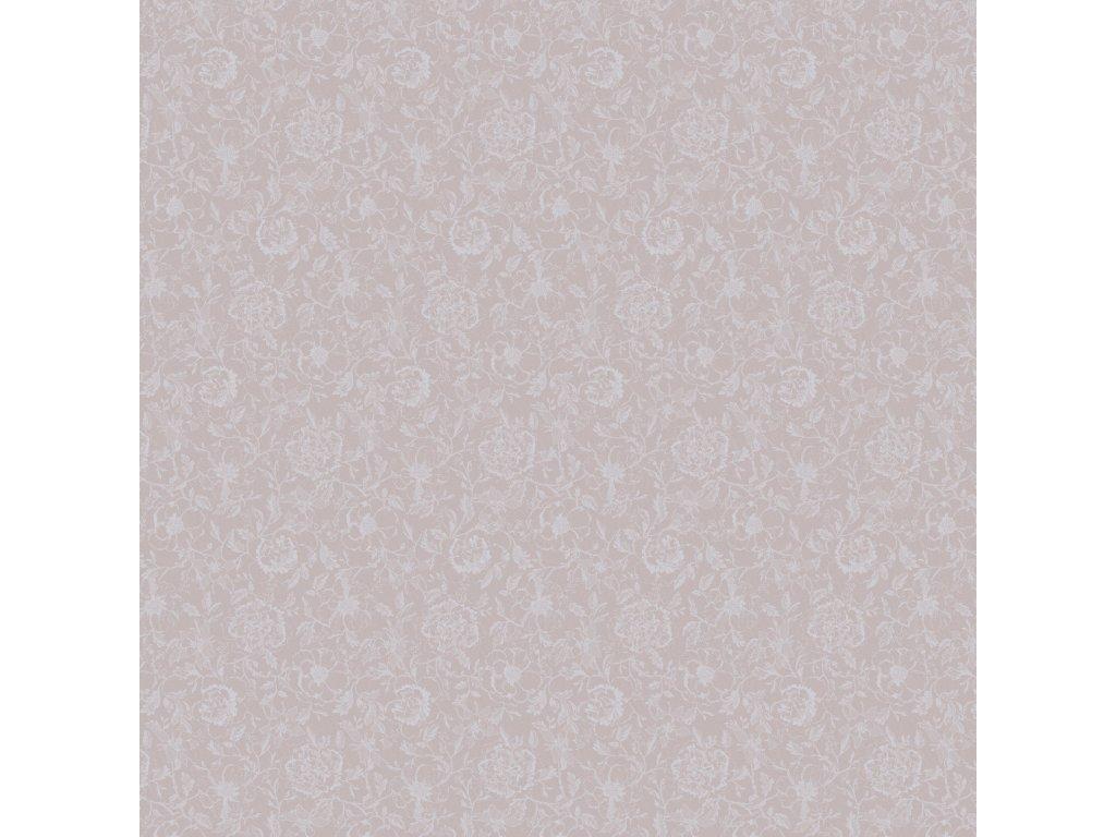 MILLE CHARMES Rose Fumé Metrový textil / látka šíře 180 cm