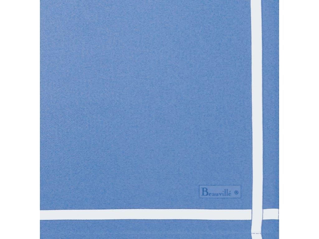Bicolore modrý ubrousek 52x52 cm, Beauvillé