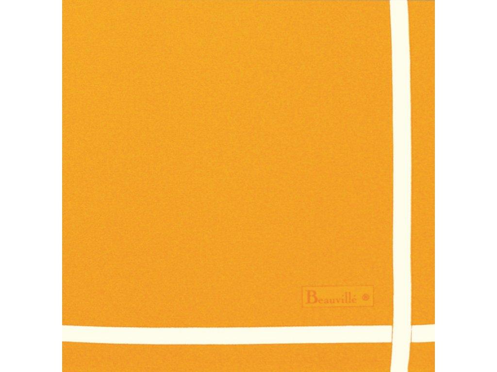 Bicolore oranžový ubrousek 52x52 cm, Beauvillé