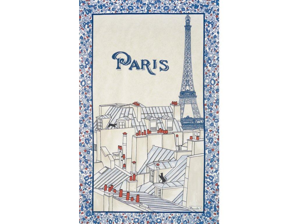 Les Toits de Paris utěrka 50x80 cm, Beauvillé