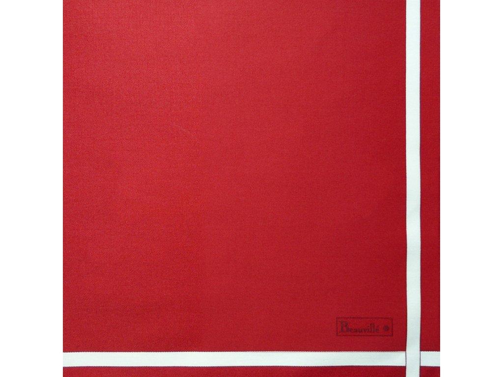 Bicolore červený ubrousek 52x52 cm, Beauvillé