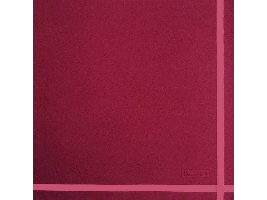 Bicolore rybízově červený ubrousek 52x52 cm, Beauvillé