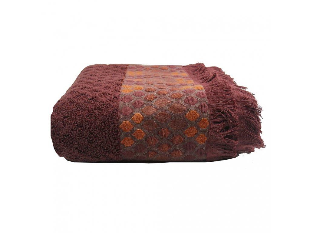 JAIPUR Brique cihlově červený ručník, Garnier Thiebaut