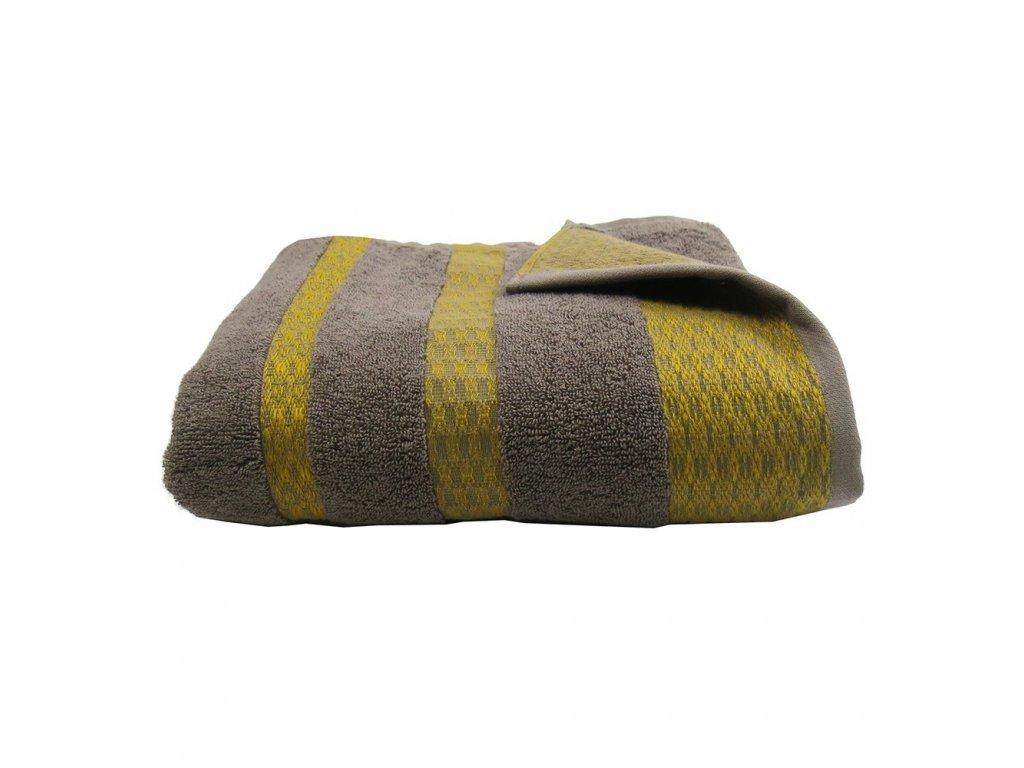 MASSAI Taupě hnědo šedý ručník, Garnier Thiebaut